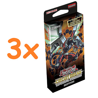 3x Yu-Gi-Oh Circuit Break Special Editions: 3 Sealed Packs of 29 Cards