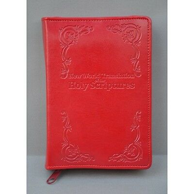 New World Translation 1984 edition LEATHER Zipped Bible Cover - Red