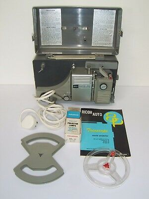 Ricoh Auto 8P Trioscope, Vintage 8mm Movie Projector, Box and Instructions