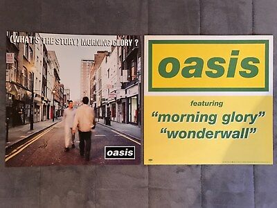 Oasis (What's The Story) Morning Glory RARE promo 12 x 12 poster flat '95