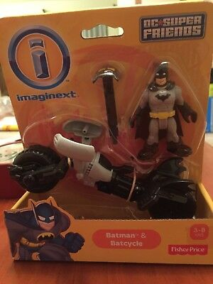 Imaginenext Super Friends Figures-Batman & Batcycle-NIP