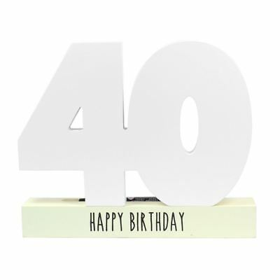 Wooden Happy Birthday Age Number Signature Plaque