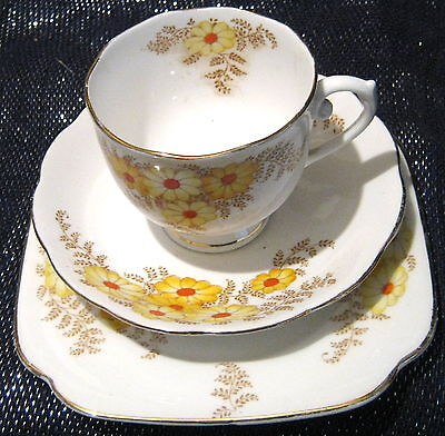 Roslyn China Bracken Pattern trio of Cup Saucer and tea plate.  Lovely items