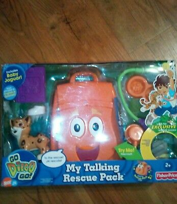 Fisher-Price Go Diego Go My Talking Rescue Pack (backpack)