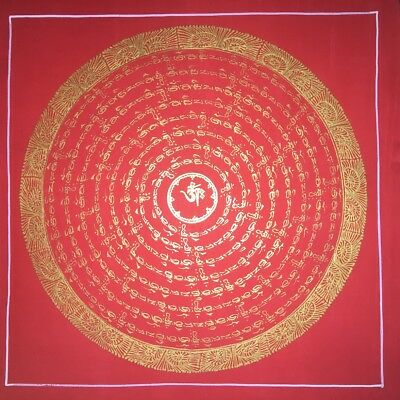 Original Tibetan Chinese Hand Painted Signed Mandala Painting thangka Meditation
