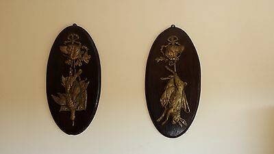 Pair of Wall Mounted hunting trophy plaque