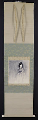 """JAPANESE HANGING SCROLL ART Painting """"Ghost"""" Asian antique  #E8880"""