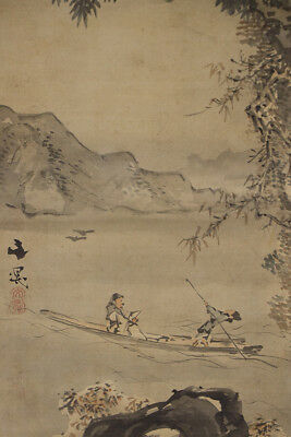JAPANESE HANGING SCROLL ART Painting Tani Buncho 1763-1840 Asian antique  #E8898