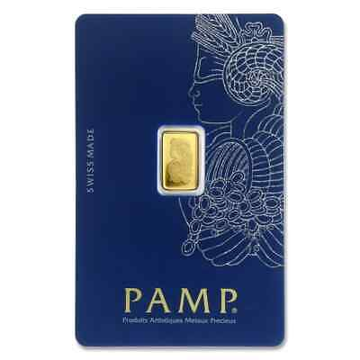 1 gram Gold Bar - PAMP Suisse Lady Fortuna Veriscan® (In Assay) - SKU #82249