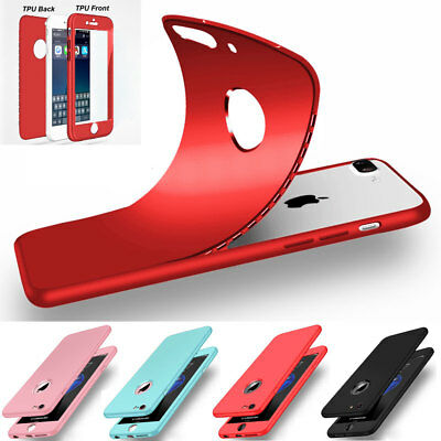 For Apple iPhone SE 5S Silicone Case 360° Hybrid Front+Back Shockproof Covers