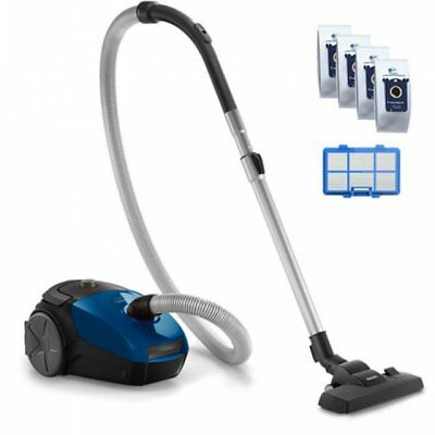Philips PowerGo vacuum cleaner  FC8245/09 Bagged, Blue, 750 W, 3 L, AAA, A, D...