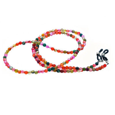 Rainbow Eyeglass Holder Bead Natural Agate Chain Neck Lanyard Cord RC-AgateLight