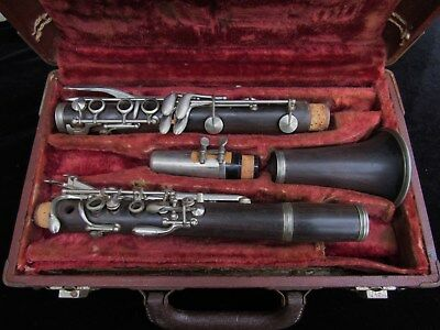 Vintage French Wood  clarinet w/case