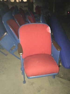 American Seating Vintage 1950's Theatre Chairs - Red/Blue i have 83 of them