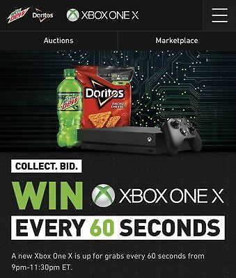 100 Every 60 seconds Mountain Dew codes 10000 points Xbox one X