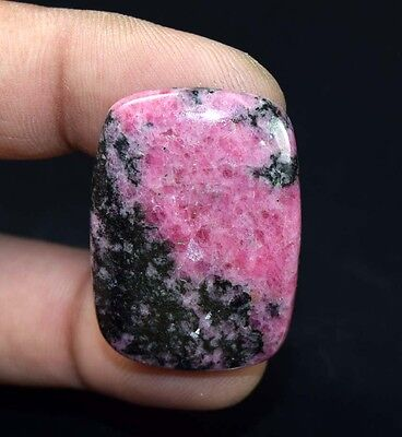 61.45 Cts. 100 % Natural Reddish Pink Rhodonite Cushion Cabochon Loose Gemstones