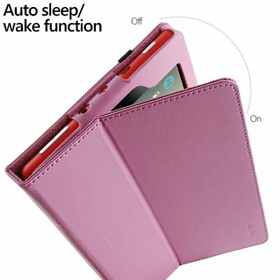 For Amazon Fire HD 8 Folio Case Poetic SlimFolio Slim Leather Stand Cover Pink
