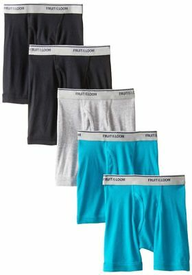 Fruit Of The Loom Little Boys' Boxer Brief, Assorted, 4T (Pack Of 5)