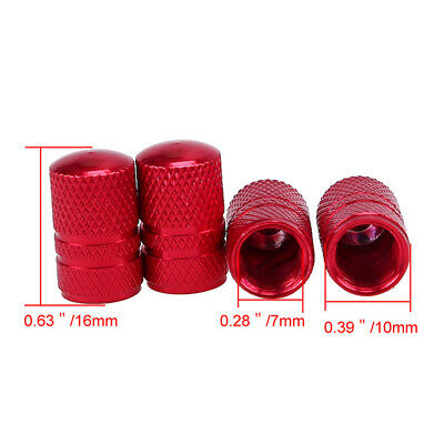1 Set Red Color Universal Car Tyre Valve Caps Motorcycle Bicycle Wheel Tire Caps