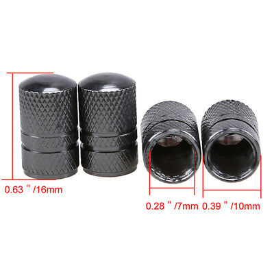 1 Set Black Color Universal Car Motorcycle Bicycle Wheel Tire Valve Caps