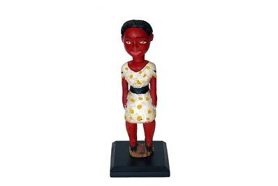 "Baule Colonial Colorful Female Figure 12"" - Ivory Coast"