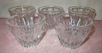 5 Heavy Avon Lead Crystal Candle Votive Holders