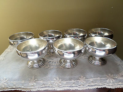Antique Sterling Silver Ice Cream / Sherbets Cups Set Of 7