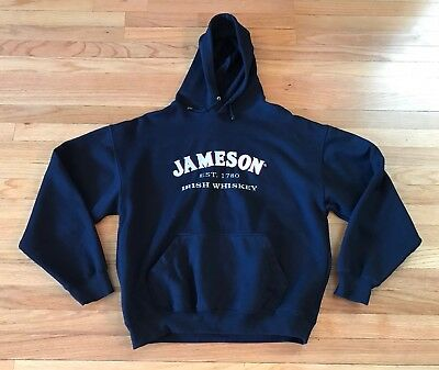 JAMESON IRISH WHISKEY Embroidered  PULLOVER HOODIE Size Medium