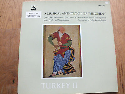UNESCO  Collection A musical anthology of the orient TURKEY 2 II