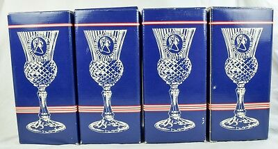 4 Avon George Washington Goblet Fostoria Candle Holder Frankincense Myrrh Candle