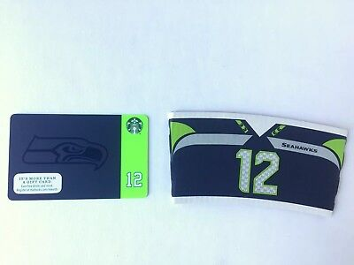 STARBUCKS 2015 MATTE SEAHAWKS GIFT CARD with SLEEVE