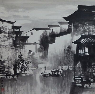 Fine Original Chinese Painting Signed Master Cheng Lianou #7198