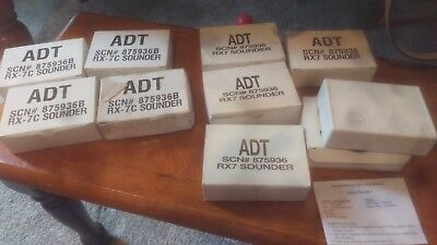 NEW ADT Mini-Alert Siren Sounder Alarm  HUGE LOT of 9 # 875936B / 875936 / Rx7