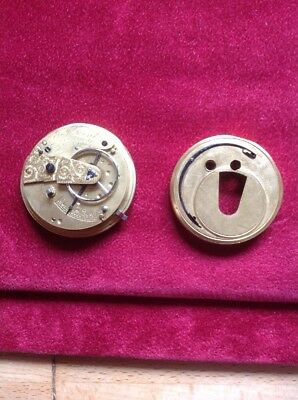 Old Rare E J Dent Pocket Watch Face & Workings Circa 1840s