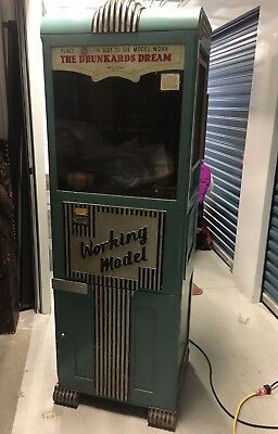 Working Model A Drunkards Dream Coin op orig. crane game converted in WWII time