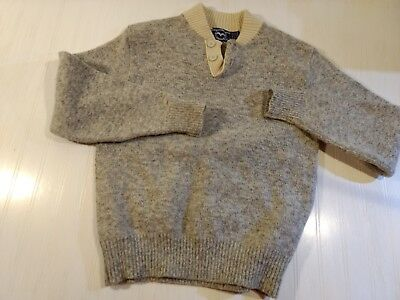 Vintage Ragg Wool Henley Fisherman Sweater by US Lines Mens Large AMAZING!