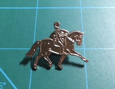 Horse Lapel Pin - Dressage - Silver