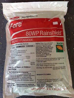 SALE!!!! Agricultural Fungicide Dow Fore 80WP  Rainshield 4 x 1.5 Lbs