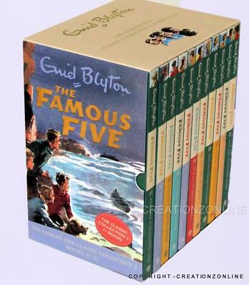 The Famous Five Enid Blyton Classic Collection Nos 11 To 21 Brand New Box Set