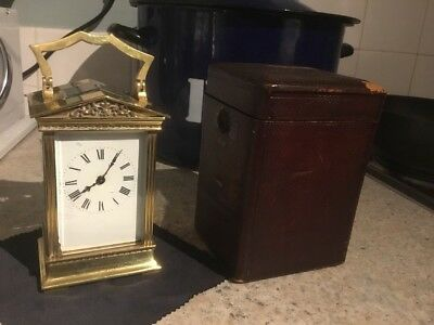 Antique Carriage Clock Fully Serviced Unusual Neo Classical Case