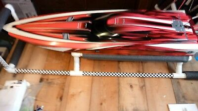 R/C Traxxas model# 57076-4 Spartan Brushless 36.in Racing Boat . Lot of upgrades