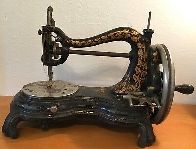 Antique Sewing Machine Hand Cranked 1870's 1880's  No Reserve
