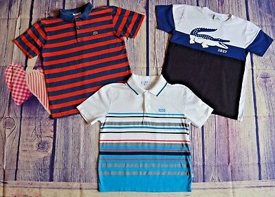 Lacoste HUGO BOSS Boys Designer Clothes Bundle T-shirt Polo Shirts 8 Years Fit 8