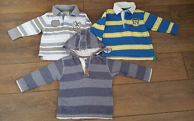 Next 3x boys long sleeve polo t-shirt jumper hooded top 18-24 months 1.5-2 years