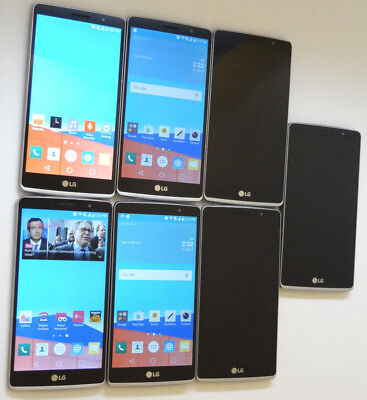 Lot of 7 LG LG G Stylo H631 16GB T-Mobile Smartphones 4 Power On AS-IS GSM