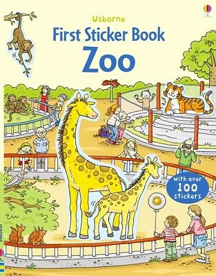 Usborne FIRST STICKER BOOK ZOO Brand NEW Gift Quality EBAY BEST PRICE!