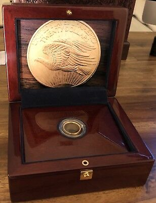 1908 $20 St. Gaudens Double Eagle Gold Coin Ring No Motto- Free Shipping