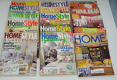 American home style and gardening 11 magazine back issue lot 4 other home mag.