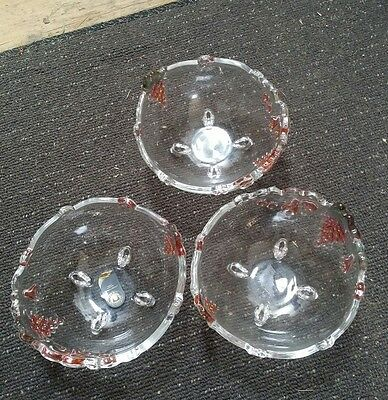 original Walther  glass 3 bowls made in W Germany