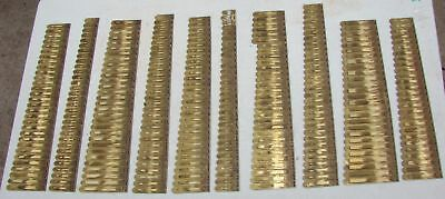 298 Brass Reeds from Dyer Brothers Pump Organ Antique Parts Crafts Repurpose